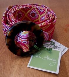 Vera reversible Raspberry Fizz Belt with faux tortoise buckle.  $24.99 on ebay