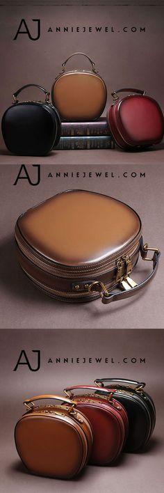 d38101a1e7 Genuine Leather Handbag Round Circle Bag Shoulder Bag Bag Crossbody Bag  Clutch Purse For Women
