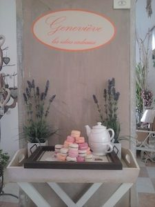 New shop corner for Borgo di Vigoleno decorative handmade scented soaps