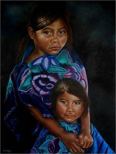 Inocencia infantil,óleo, Maria Noemi Garfias