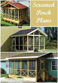 Screened In Porch Plans to Build or Modify For Dad.Thinking of building a screened porch? Begin with a good plan! We point you to several options that many of our visitors have found helpful. Front-Porch-Ideas-and- Screened In Porch Plans, Screened Porch Designs, Deck Plans, Pergola Plans, Pergola Ideas, Wood Plans, Pergola Kits, Porch Kits, Porch Ideas