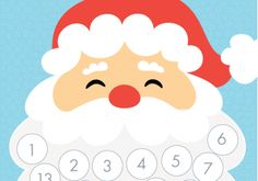 Santa's beard Christmas countdown advent calendar – FREE Printable | TOMFO
