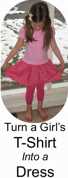 How to Turn a Girl's T-Shirt into a Dress - - Proverbs 31 Woman: How to Turn a Girl's T-Shirt into a Dress Source by Tshirt Dress Pattern, Little Girl Dresses, Girls Dresses, Baby Dresses, Dress Girl, Little Girl Dress Patterns, For Elise, Proverbs 31 Woman, Diy Dress