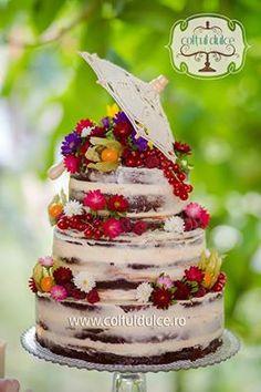 Naked Cake / Umbrella Cake / Romantic Cake / Wedding Cake / Coltul Dulce / www.coltuldulce.ro