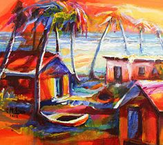 Trinidad Painting - Beach House II by Cynthia McLean