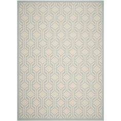 Primera opción Found it at Wayfair - Courtyard Beige / Aqua Indoor/Outdoor Rug