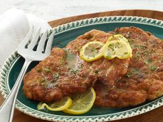 Chicken Piccata from -- I make this when we have company & serve w/mashed potatoes & green beans. It's always delicious!