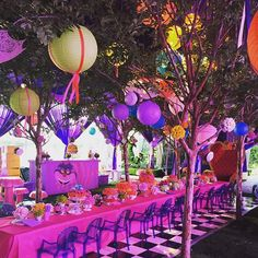 Alice in Wonderland Birthday Party Alice In Wonderland Tea Party Birthday, Alice Tea Party, Alice In Wonderland Birthday, 18th Birthday Party, Birthday Ideas, Alice In Wonderland Decorations, Mad Hatter Party, Party Centerpieces, Childrens Party