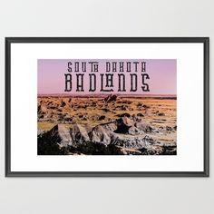 Badlands Travel Poster Framed Art Print