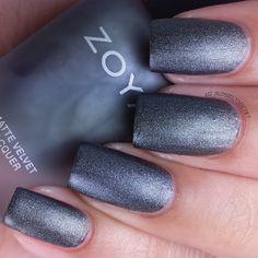Zoya Matte Velvet Collection - Zoya Loredana #Matte #Beauty #NailPolish #Gray