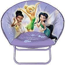 NEW & SEALED! Disney Fairies Toddler Mini Saucer Chair Kids Tinkerbell Girls