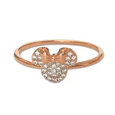 Minnie Mouse Icon Ring by CRISLU - Rose Gold