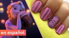 Diseño de uñas basado en Rapunzel de Enredados (Tangled)  Una exclusiva de CutePolish para Disney