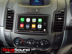 Ford Ranger with Apple CarPlay installed by DriveSound.