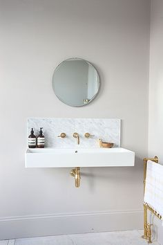 Single Sink And Mirror - Image Via Light Locations