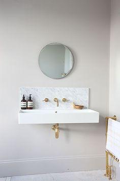 Single Sink And Mirror - Image Via Light Locations