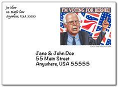 Bernie Sanders Envelope. Neat! Says a portion of profits goes to his campaign. #BernieSanders2016