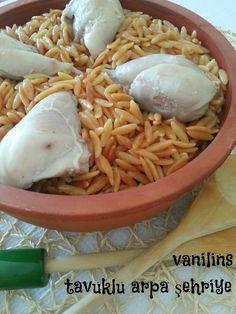 Vanilins: Tavuklu arpa şehriye pilavı