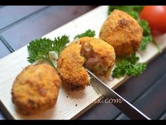 Crispy and creamy stuffed arancini balls with Phillips AirFryer, stuffed rice balls, croquettes