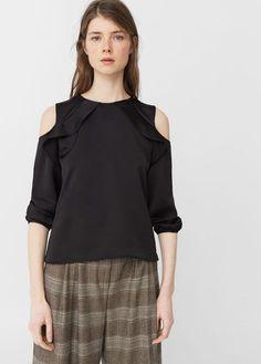 Mango Outlet Off-shoulder blouse