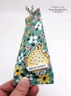 Oster Verpackung – mit Produkten von Stampin' Up! Stampin Up, Community, Birthday, Paper, Book Folding, Easter Activities, Creative, Gifts, Birthdays