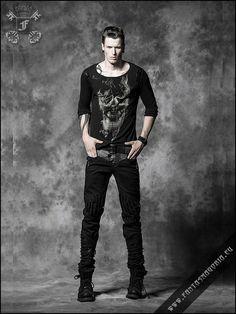 Black Visions top punk rave t-325 | TOPS | MEN'S CLOTHES | Fantasmagoria.eu - Gothic Fashion boutique
