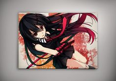 Akame Ga Kill! Anime Manga Watercolor Print Poster Tatsumi Night Raid