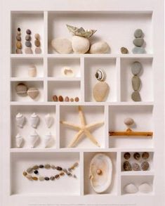 Inspiring Beach Printer Tray Decorating Ideas is part of Seashell crafts For Boyfriend - These beautiful beach printer tray and printer tray like shadow box frame ideas are sure to inspire! Seashell Art, Seashell Crafts, Beach Crafts, Crafts With Seashells, Seashell Display, Seashell Projects, Driftwood Projects, Driftwood Art, Summer Crafts