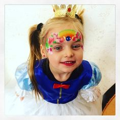 facepainting Elfenpret mix and match rainbow, snow white, pink princess, roos