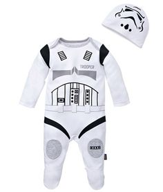 """Sormtrooper oneseie / babygrow - complete with """"helmet"""" !!"""