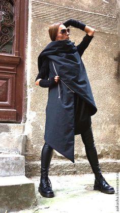 Купить Пальто-жилет Lofty Topics - черный, пальто, пальто безрукавов, безрукавка, теплое пальто