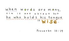 images for proverbs 10:19 - Google Search