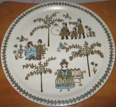 Vintage Figgjo Norway Turi Platter