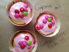 Cupcakes mit Erdbeerschoko