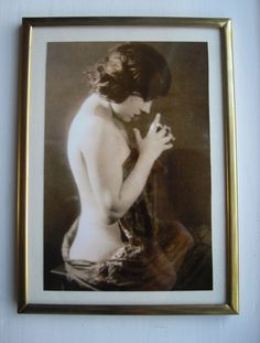 Vintage Bilderrahmen - 60er Jahre metall Liste mit Sepia-Tönung-Foto - ein Designerstück von VintageandNew bei DaWanda 13