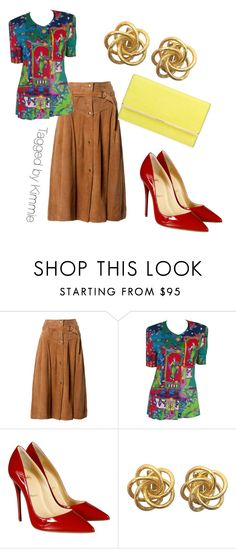 """""""Be a thrifty diva!!!!!"""" by taggedbykimmie15 on Polyvore featuring Claude Montana, Louis Féraud, Christian Louboutin, Henri Bendel, women's clothing, women's fashion, women, female, woman and misses"""