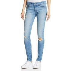 Levi's 711 Skinny Jeans in Goodbye Heart ($105) ❤ liked on Polyvore featuring jeans, goodbye heart, blue jeans, denim skinny jeans, levi skinny jeans, blue skinny jeans and skinny leg jeans