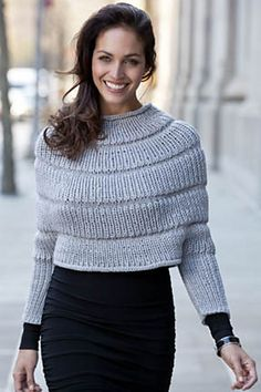 Parma Ridged Poncho Top pattern by Irina Poludnenko