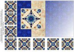 Fold Back Card With Tea Bag Tiles #5