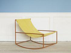 The First Rocking Chair by Muller Van Severen is Colorful and Minimalist #hammocks trendhunter.com https://uk.pinterest.com/furniturerattan/rattan-sun-loungers/pins/