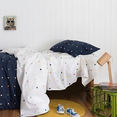 So many spots, so much fun 💙 and available in cot to king 👊🏼    📸 @villastyling Childrens Beds, Cool Tones, Bed Storage, Cot, Toddler Bed, King, Cool Stuff, Furniture, Home Decor