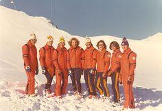 vintage Alpine skiing 70's