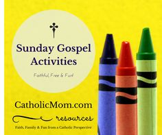 Gospel Activities and Other Catholic Activities and Printables for the month of April