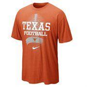 Nike Texas Longhorns Seasonal Football II Heathered T-Shirt - Burnt Orange #Fanatics