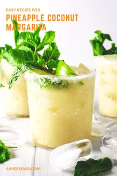 Tangy pineapple shaken with sweet coconut milk makes a summery twist on a classic cocktail. Perfect for poolside sipping, this Pineapple Coconut Margarita is the best of both a pina colada and a margarita with only one hand needed. Summer Drinks, Cocktail Drinks, Fun Drinks, Cocktail Recipes, Alcoholic Drinks, Beverages, Coconut Margarita, Pineapple Margarita, Margarita Recipes