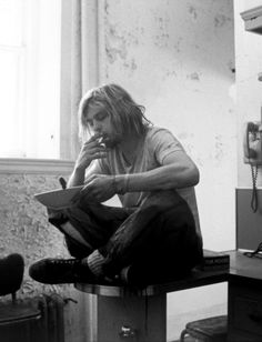 I could stare at this photo for hours...Cobain deep in thought
