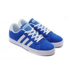 reputable site 8b03d b0b84 hombres mujer Adidas NEO SE Daily Vulc Suede Corriendo Zapatos azul Blanco  Sneakers F39081