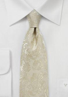 Kinder-Krawatte Paisley sandfarben