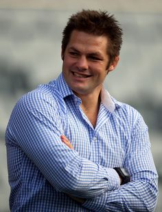 Richie McCaw looks on during the New Zealand All Blacks Captain's Run at Eden Park on June 7, 2013 in Auckland, New Zealand.