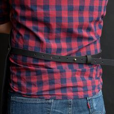 Creative Tonic loves Canvas Apron with leather pocket black / Tablier en by NOIRnBLACK
